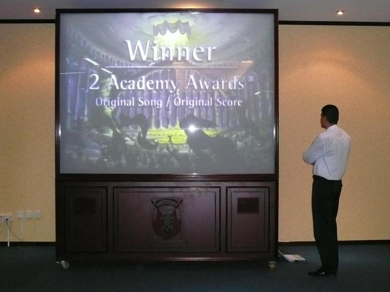 "120"" Portable VIP Video Wall for TCC -Abu Dhabi Municapality"